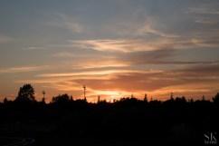 Päikeseloojang siluetiga...