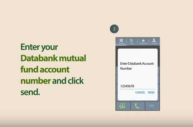 Databank mobile money top-up step 3