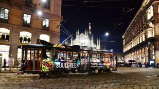 Milánói villamos reklám