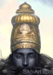 Vishnu ji, Narayan, Golden Top Knot cropped close-up