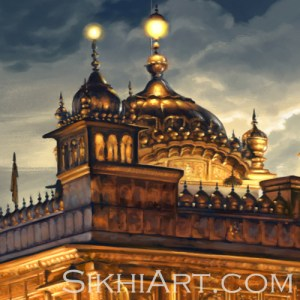Golden Temple in Moonlight Harmandir Sahib Harimandir Nishan Sahib by Bhagat Singh