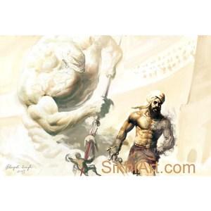 Prince of Patiala and the Jinn, Punjabi Warrior, Warrior, Sikh warrior, Turban, Dastaar, Khalsa, Sikh Art