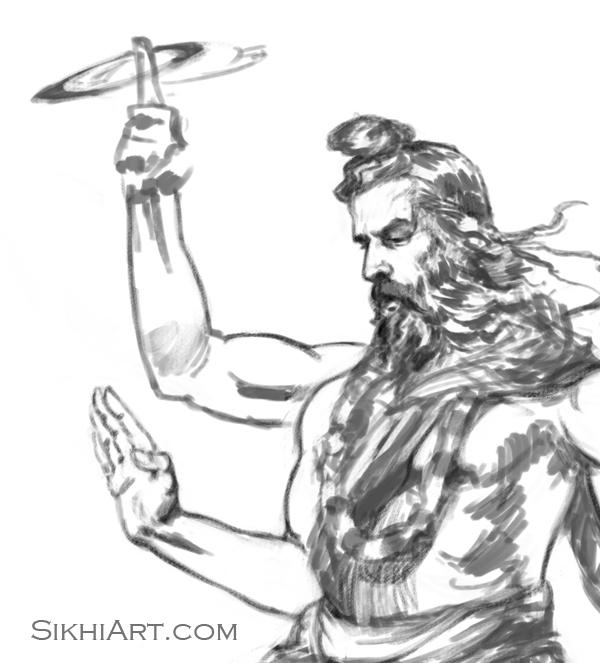 Lord Ram, Shri Ram Chandra ji, Chaturbhuj, Vishnu, Hindu Gods, Sikhi, Art, Punjab, Drawings, Sketches, Bhagat Singh Bedi