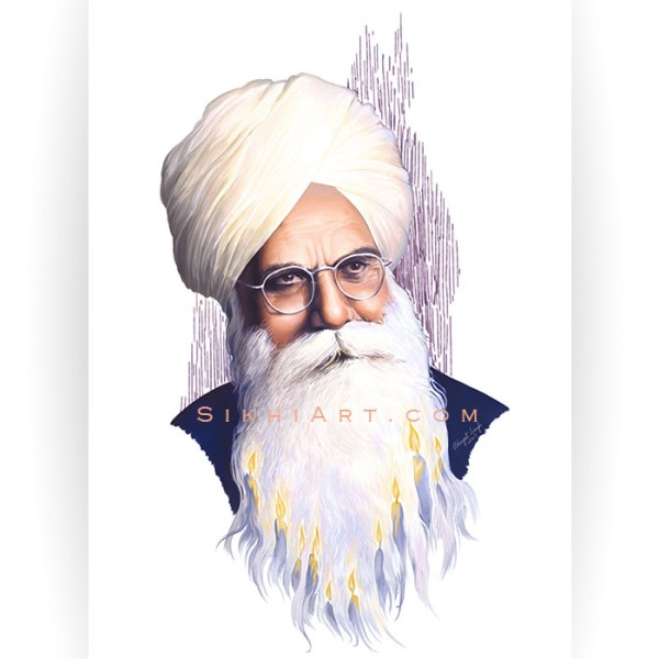 Bhai Vir Singh ji, Bhagat Singh Bedi, sikhi art, Punjabi author, sikh writer of punjab