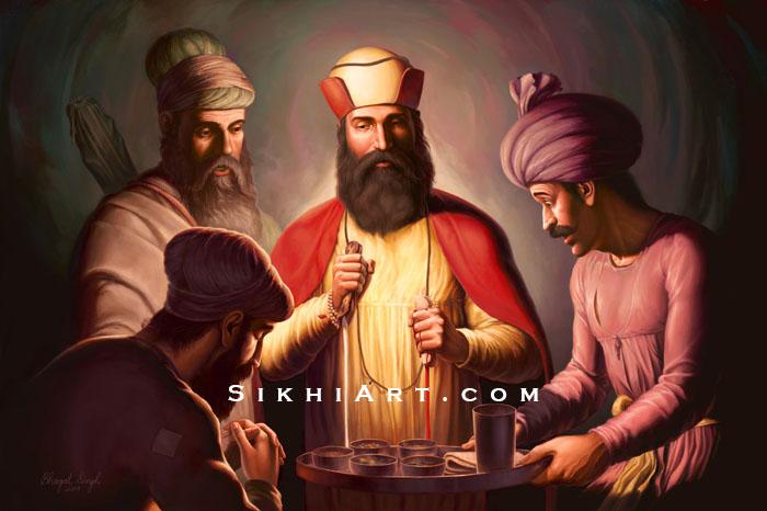 Guru Nanak Dev ji, Supper at Bhai Lalo Ji's House, Bhai Mardana ji, Sikh History, Malik Bhago, Sikh Art, Bhagat Singh Bedi