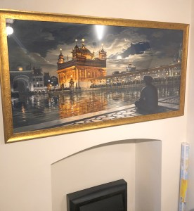 Golden Temple Art Meditations at Night - by Sikh Art by Artist Bhagat Singh - Collection of Raja Singh sm