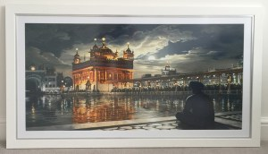Golden Temple Painting - Sikh Gurudwara - History of Sikhism - Sikh Paintings by Bhagat Singh - Collection of A. K. Dulai