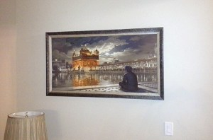 Golden Temple at Night - Harmandir Sahib - Bhagat Singh - Sikhi Art - Steve Nijjar Collection 2
