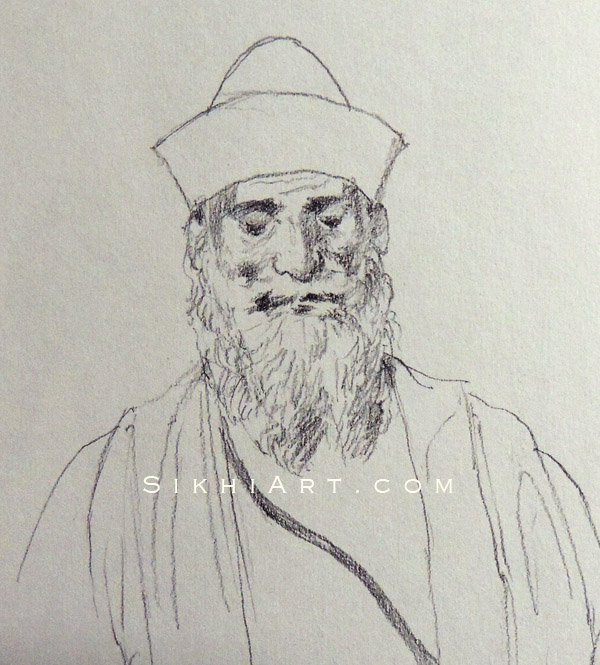 Guru Nanak Dev ji Sikhi Art Punjab Drawings Sketches Bhagat Singh Bedi