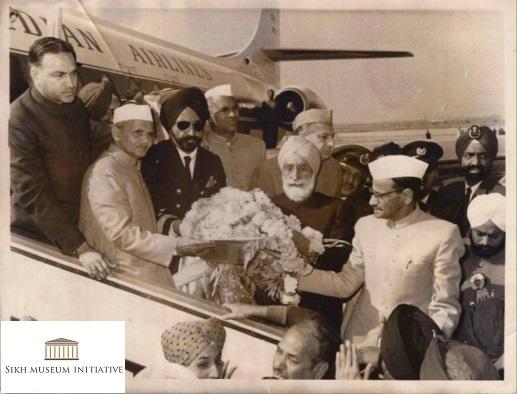 Gurus relics received at Delhi