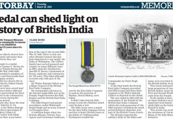 Torquay Museum sheds light on Anglo Sikh Wars medal.