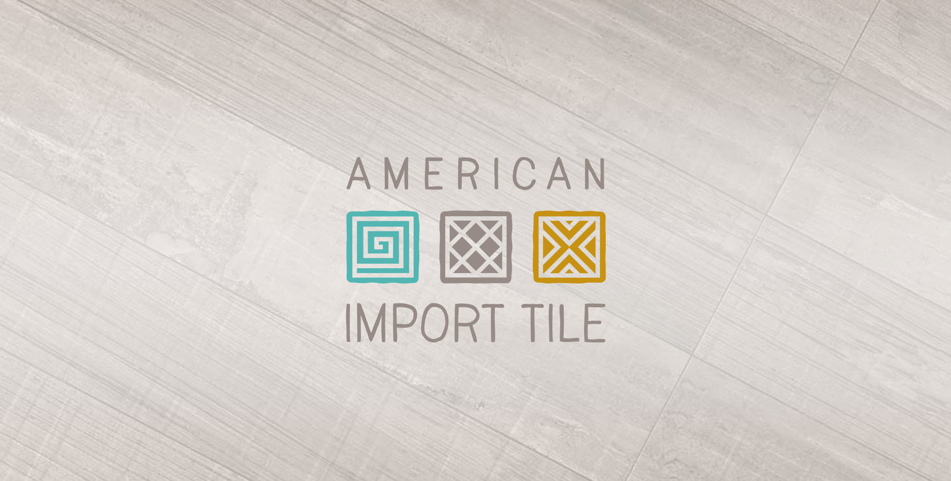 american import tile logo design
