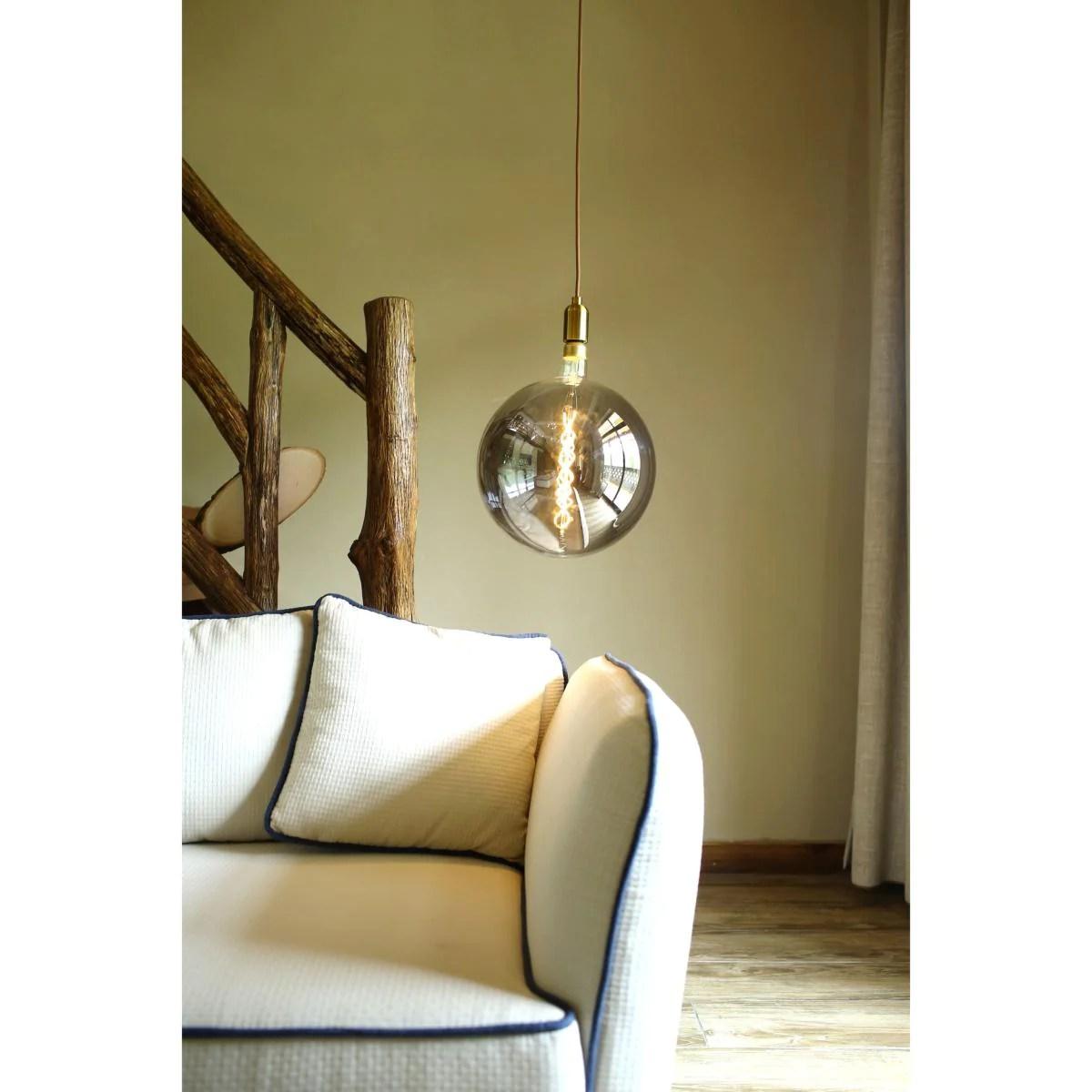Ampoule Led E27 Filament Dimmable 8w G300 Globe Xxl Smoke