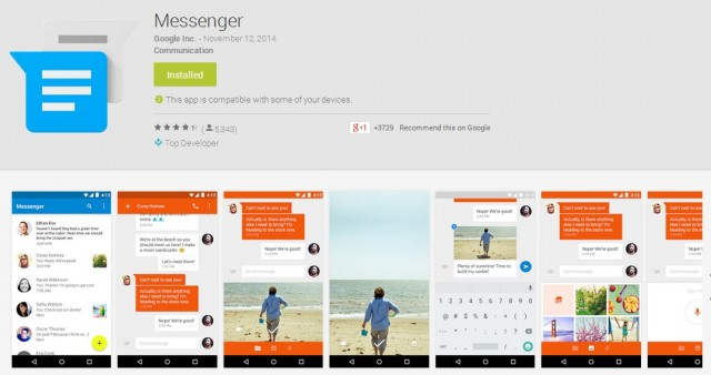 Google Messenger Main