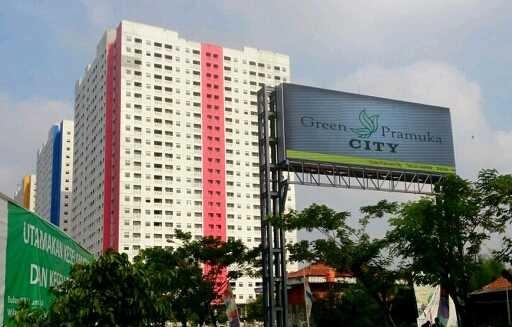lokasi strategis apartemen green pramuka city