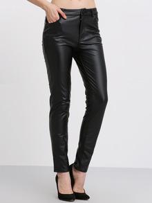 Black Pockets Slim Pant