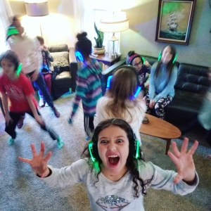 School age kids love a headphone party and parents love a silent event.