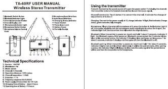 TX 60RF Silent Disco Transmitter maximized for BlueTooth