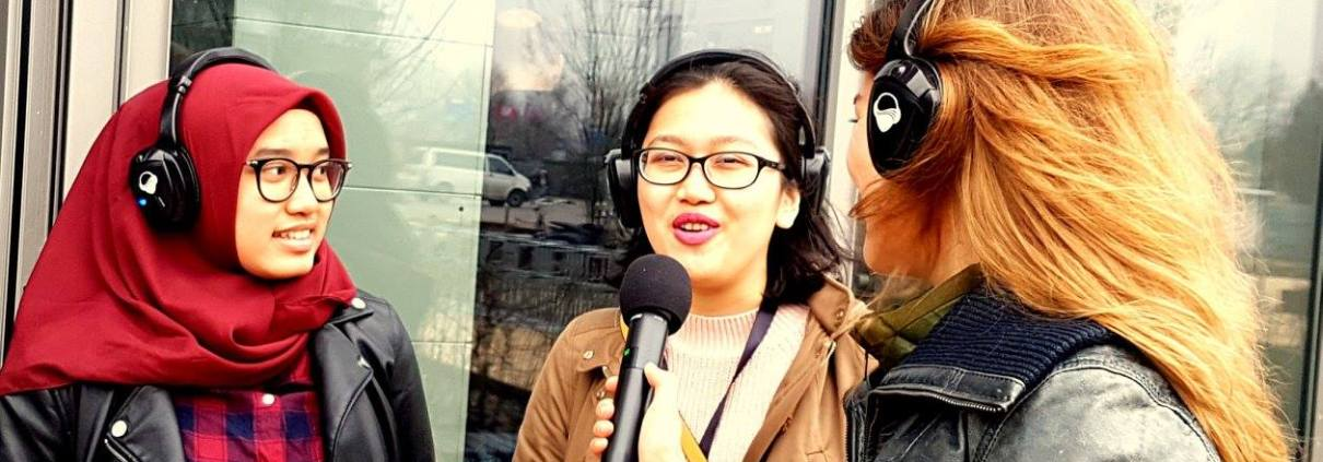 Opening HATTA gebouw Ermasmus Universiteit Rotterdam met live radio