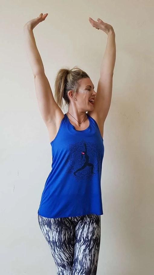 Silent Disco Yoga blue yoga tank top