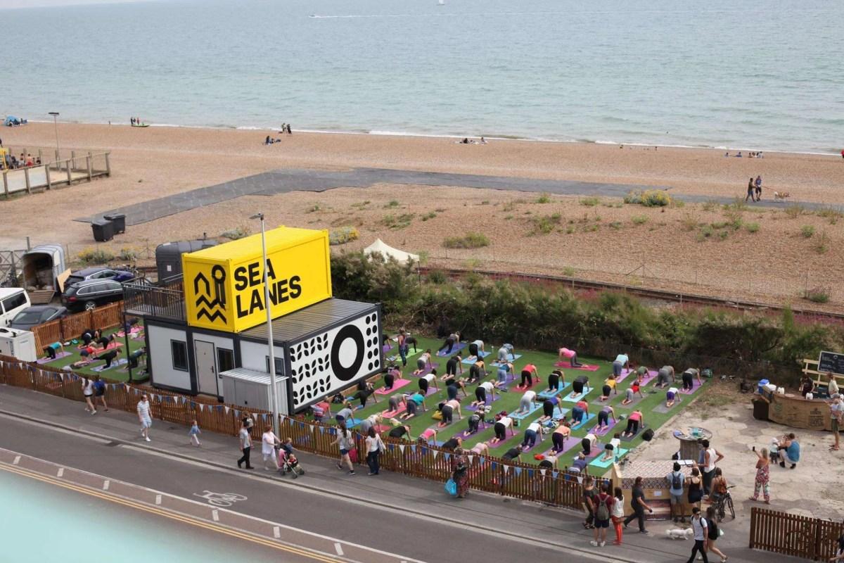 Silent Disco Yoga Brighton UK Tour