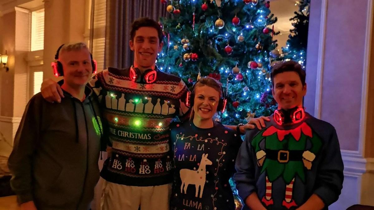 Silent Disco Yoga Happy Christmas Message
