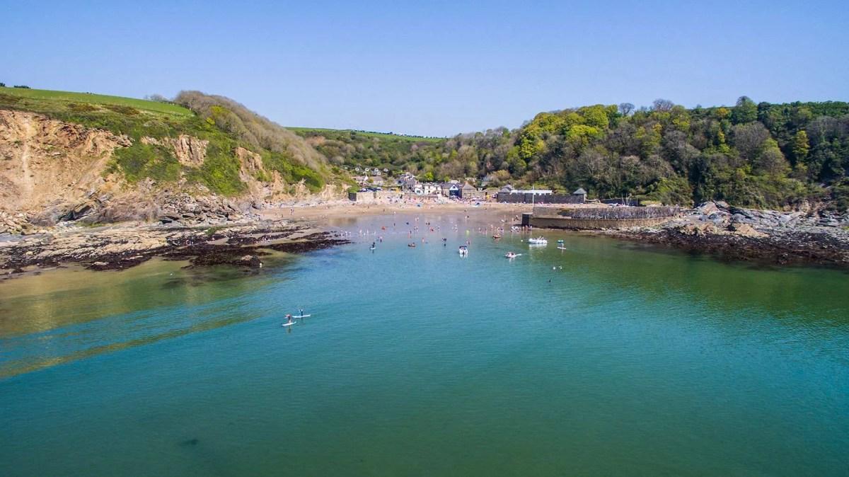 Silent Disco Yoga Polkerris Beach Cornwall