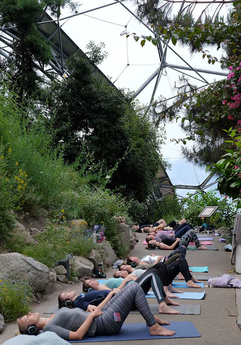 Silent Disco Yoga the Eden Project Image