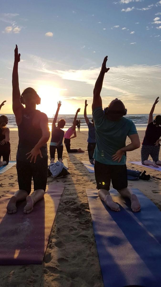 covid safe beach yoga newquay cornwall