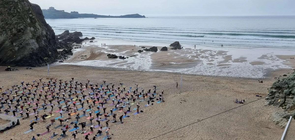 silent disco yoga lusty glaze beach