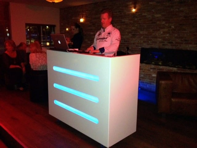 DJ booth meubel wit hout led