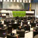 Silent congres Flanders Synergy Belgische Parlement - silent disco foto fotos