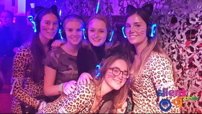 silent disco girls