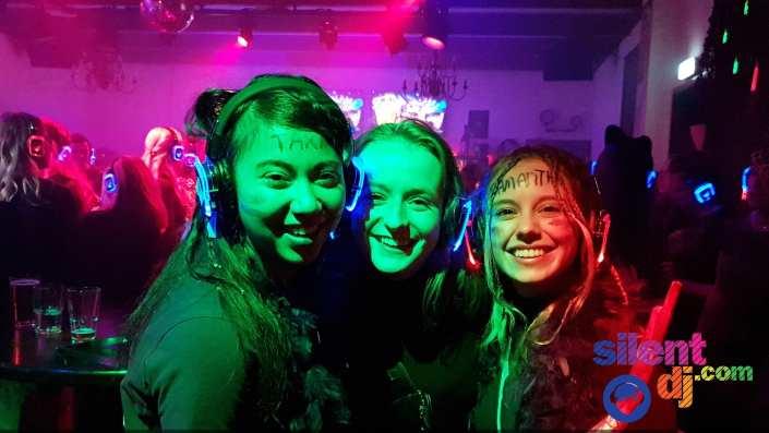 silent disco happy students