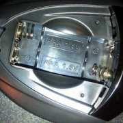 silent disco batterijen achter klepje