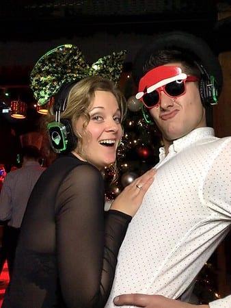 silent disco bruiloft party