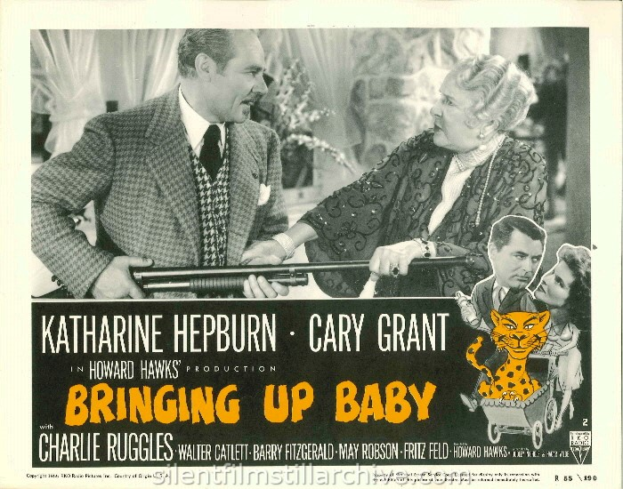 Charles Ruggles and May Robson in BRINGING UP BABY (1938). 1955 Re-release Lobby Card