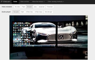 IP webcam on web visuals