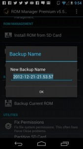backup on ROM manager