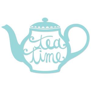 Silhouette Design Store View Design 120830 Tea Time Teapot