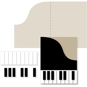 Silhouette Design Store View Design 24811 Piano Card