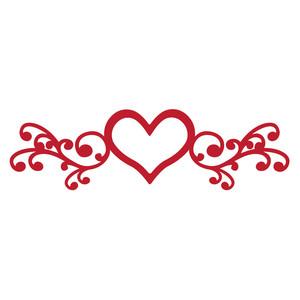 Silhouette Design Store View Design 174751 Heart Flourish
