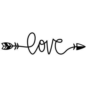 Download Silhouette Design Store - View Design #241684: love arrow