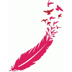 Silhouette Design Store View Design 96969 Bird Feather