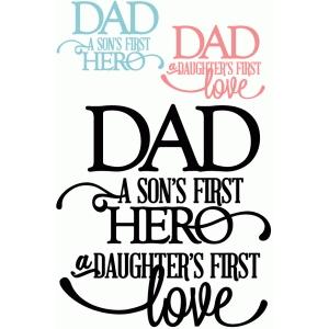 Download Silhouette Design Store - View Design #43589: dad: son's ...