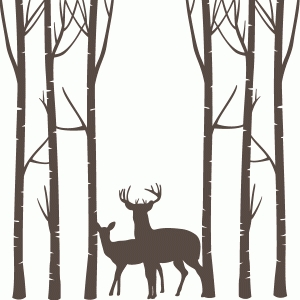 Silhouette Design Store View Design 69299 Deer Forest