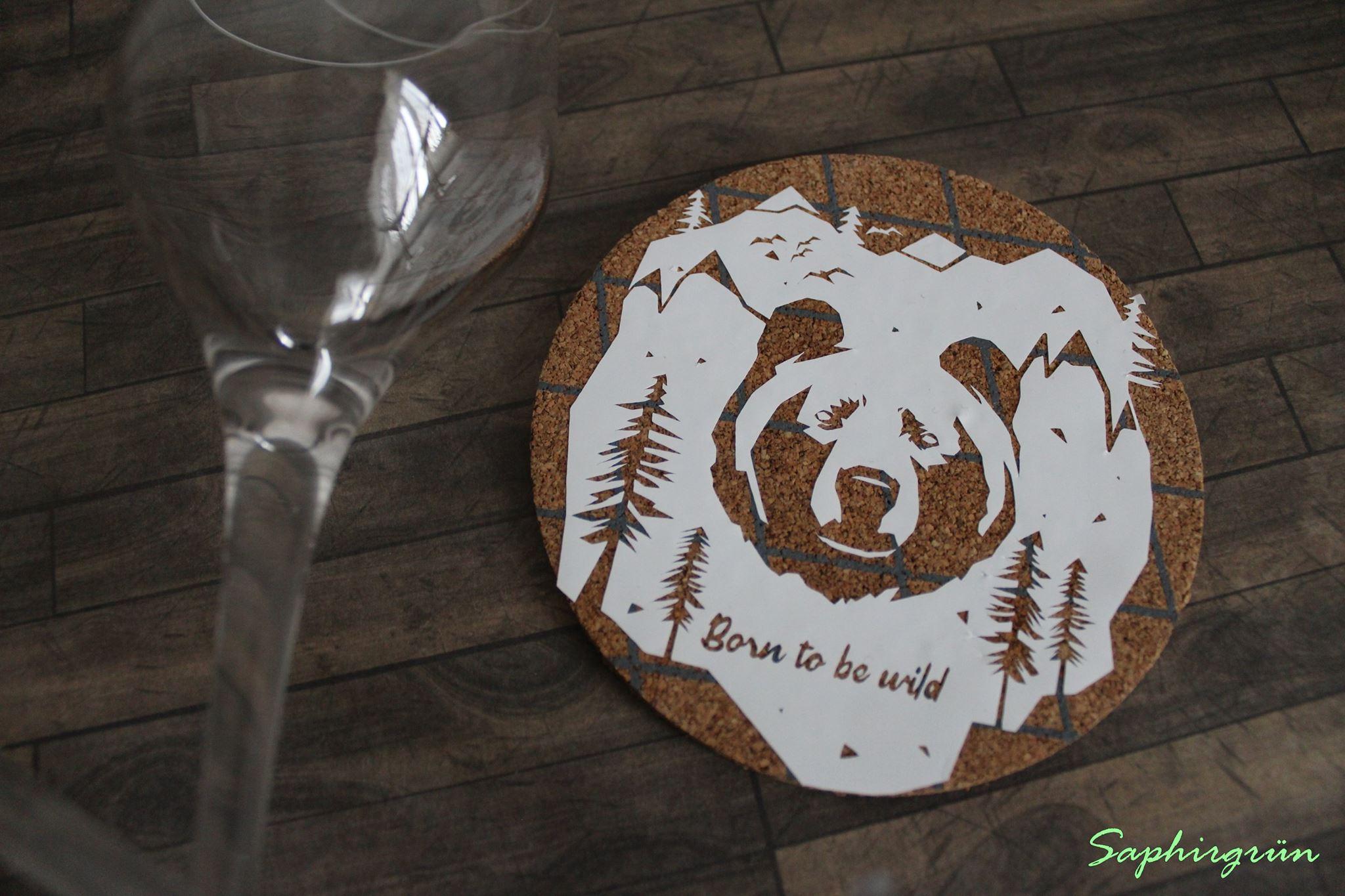 Plotterdatei Born to be wild Bär by SILHOUETTE LOVE
