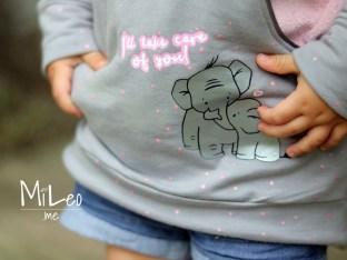 emmapünktchen ® – elephant love, Taschen Hoodie von frleinfaden