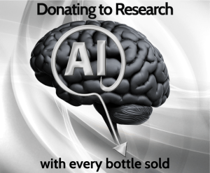 Donating to Research with every bottle sold