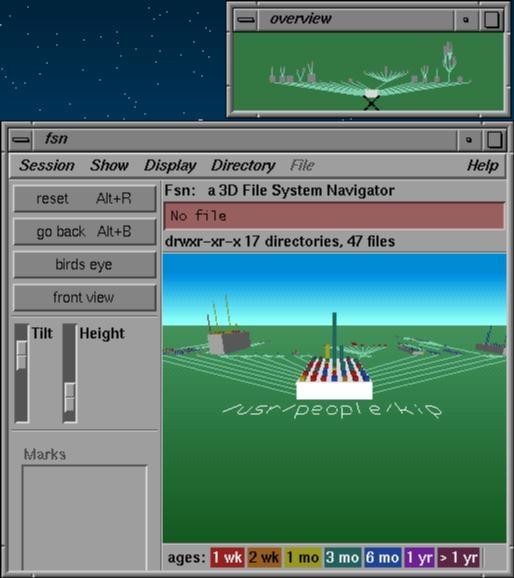 FSN - the IRIX 3D file system tool from Jurassic Park